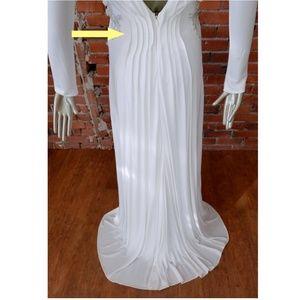 Badgley Mischka Dresses - BADGLEY MISCHKA #EG1569A OPEN BACK L/S BEADED GOWN